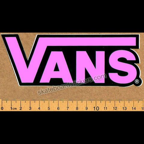 Vans Shoes Skateboard Sticker - Pink - SkateboardStickers.com