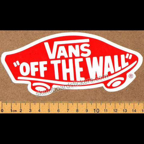 Vans Shoes Skateboard Sticker - Off The Wall - SkateboardStickers.com
