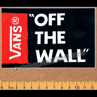 Vans Off The Wall Skateboard Sticker - Black - SkateboardStickers.com