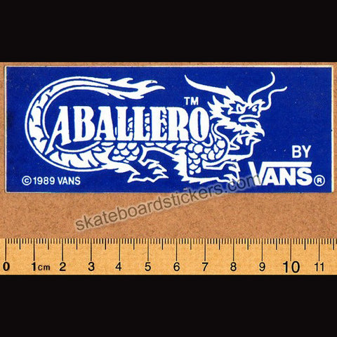 Vans Cab Shoes Old School Skateboard Sticker - SkateboardStickers.com