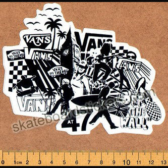 Vans Off the Wall Skateboard Sticker - SkateboardStickers.com