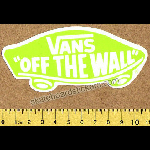 Vans Shoes Off The Wall Skateboard Sticker - Lime Green