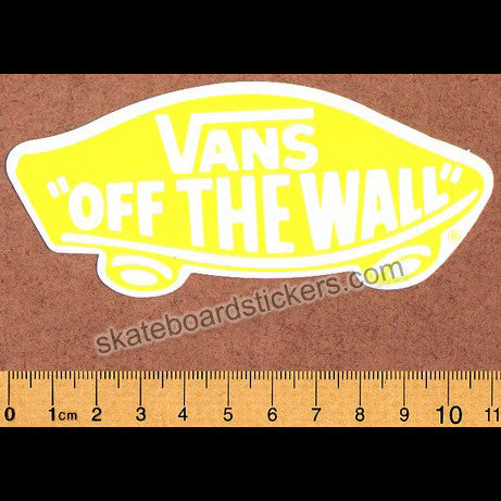 Vans Shoes Off The Wall Skateboard Sticker - Yellow