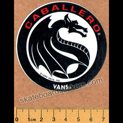 Vans Cab Shoes Old School Skateboard Sticker