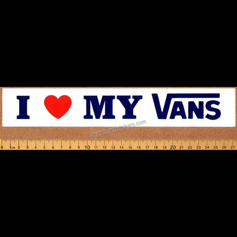 Vans Old School I Love my Vans Skateboard Sticker.
