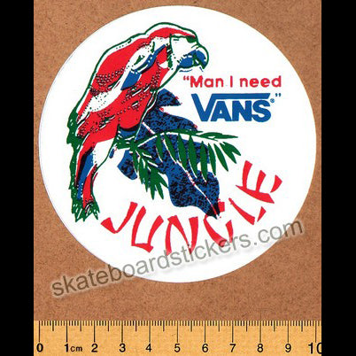 Vans Shoes Jungle Skateboard Sticker