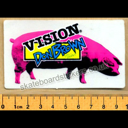 Vision Old School Don Brown Skateboard Sticker from 1987