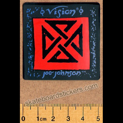 Vision Old School Joe Johnson Skateboard Sticker