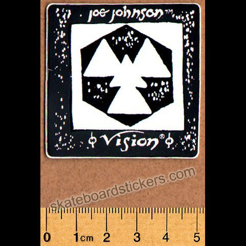 Vision Old School Joe Johnson Skateboard Sticker - pink