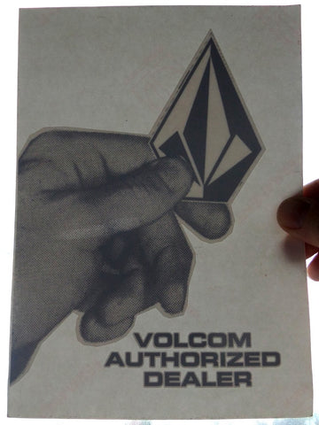 Volcom Authorized Dealer Window Skateboard Sticker