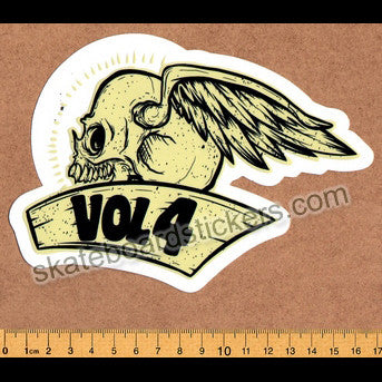 Volume 4 / Vol 4 - Cycle Skateboard Sticker - SkateboardStickers.com