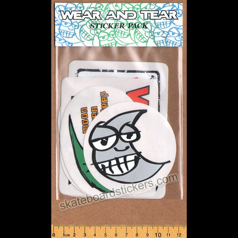 Wear and Tear Skateboard Sticker Pack - 6 Stickers
