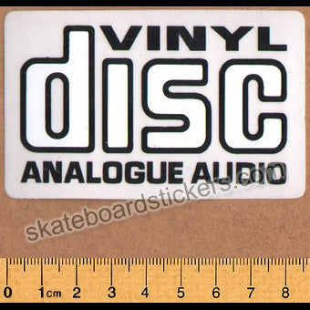 Wear and Tear Skateboard Sticker - Vinyl Disc Analog Audio