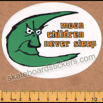 Wear and Tear Skateboard Sticker - Never Sleep