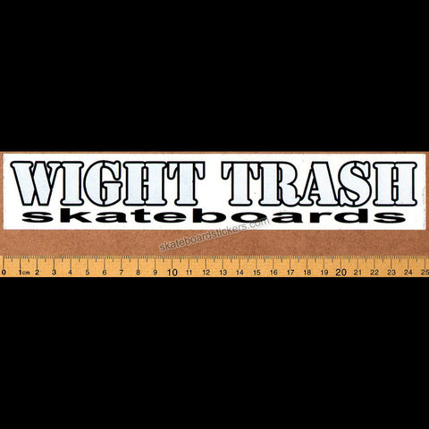 Wight Trash Skateboard Sticker