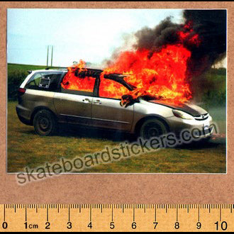 WKND Skateboards - Van On Fire Skateboard Sticker