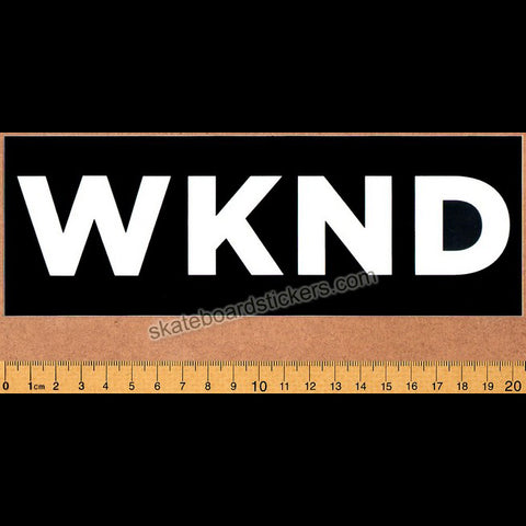 WKND Skateboards - Banner Black Skateboard Sticker