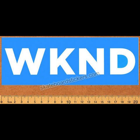 WKND Skateboards - Banner Blue Skateboard Sticker