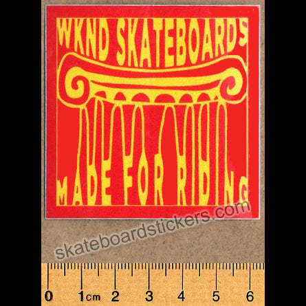 WKND Skateboards - Made for Riding Skateboard Sticker