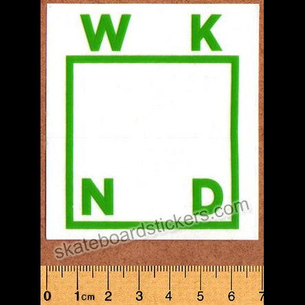 WKND Skateboards Green Logo Skateboard Sticker