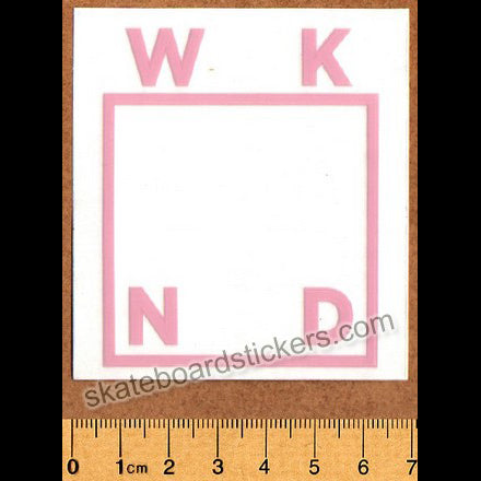 WKND Skateboards Pink Logo Skateboard Sticker