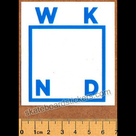 WKND Skateboards Blue Logo Skateboard Sticker