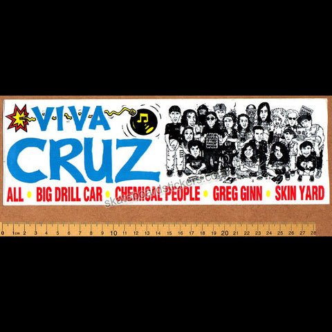 Cruz Records Punk Skateboard Music Sticker