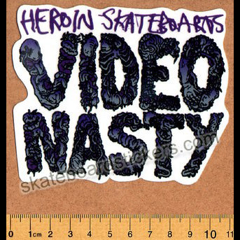 Heroin Video Nasty Skateboard Sticker