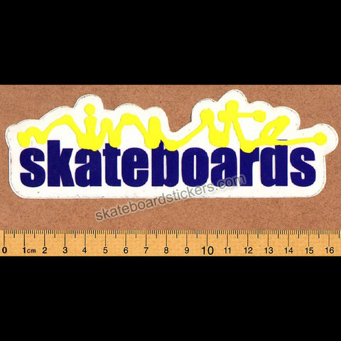 Minute Old School Skateboard Sticker