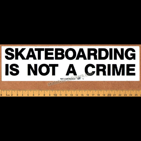 Santa Cruz - Skateboarding Is Not A Crime Old School Skateboard Sticker