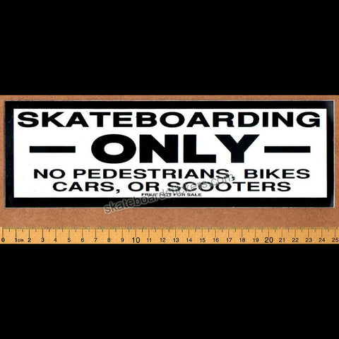 Skateboarding Only Old School Skateboard Sticker