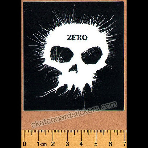 Zero Blown Ink Skull Skateboard Sticker - SkateboardStickers.com