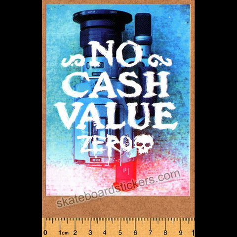 Zero No Cash Value Skateboard Sticker - SkateboardStickers.com