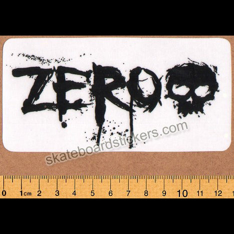 Zero Blood Skateboard Sticker - Black