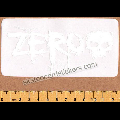 Zero Blood Skateboard Sticker - White