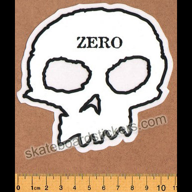 Zero Skull Skateboard Sticker