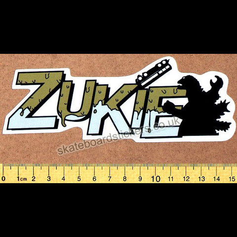 Zukie Clothing Skateboard Sticker - SkateboardStickers.com