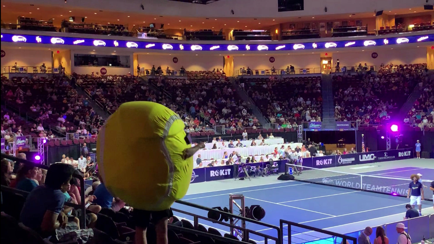 World Team Tennis Finals 2019 Las Vegas Buddy the Ball Redfoo