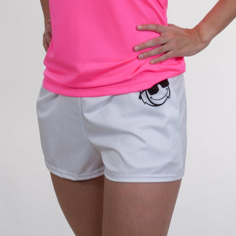 Shorts - White Pocket Logo -Ladies