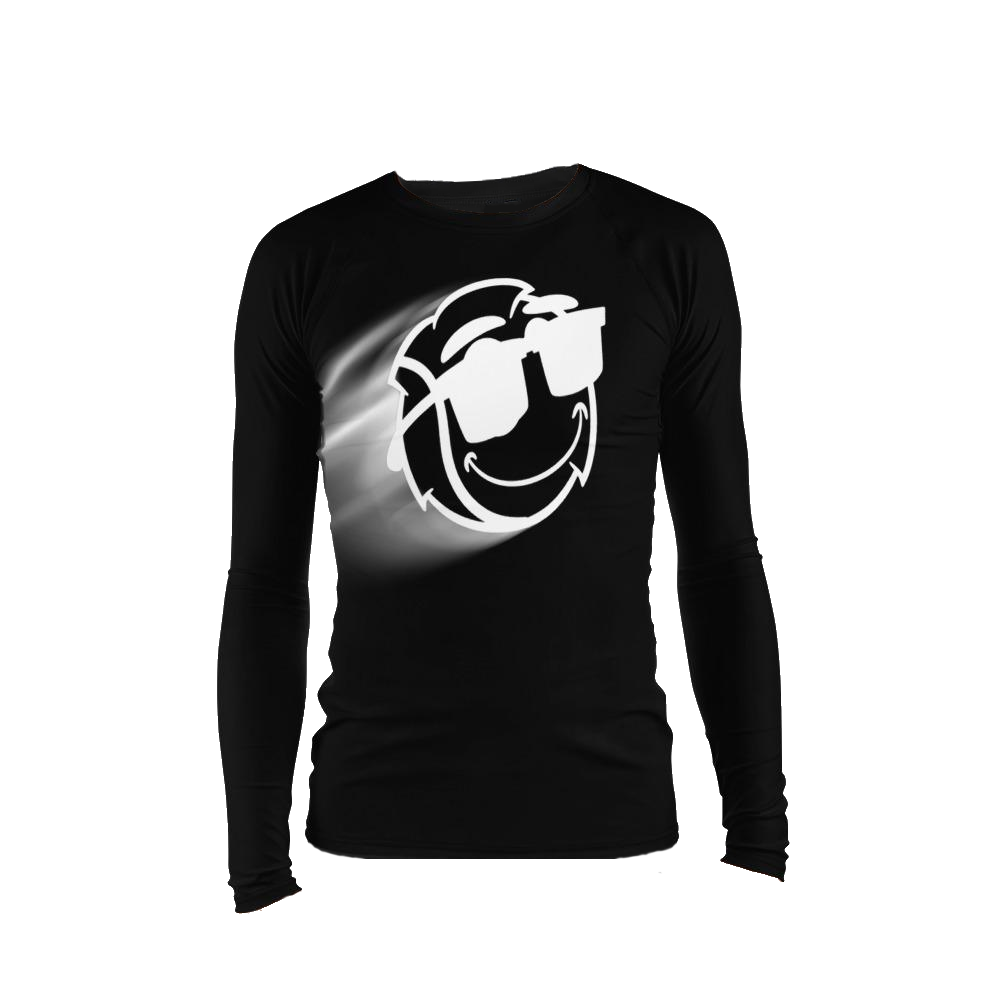 Men's Black Zoom Stretch Tight Long Sleeve
