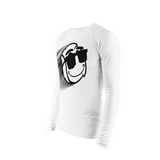 Stretch Tight Long Sleeve - White Zoom