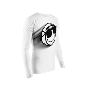 Men's White Zoom Stretch Tight Long Sleeve