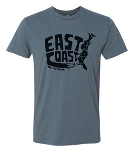 East Coast State of Shaka Unisex Tee