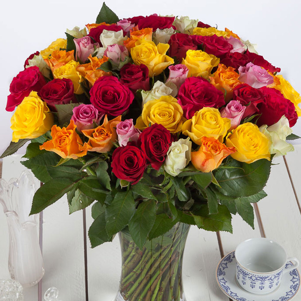 Cheap 50 roses flower bouquet uk next day delivery valueflora 50 roses izmirmasajfo