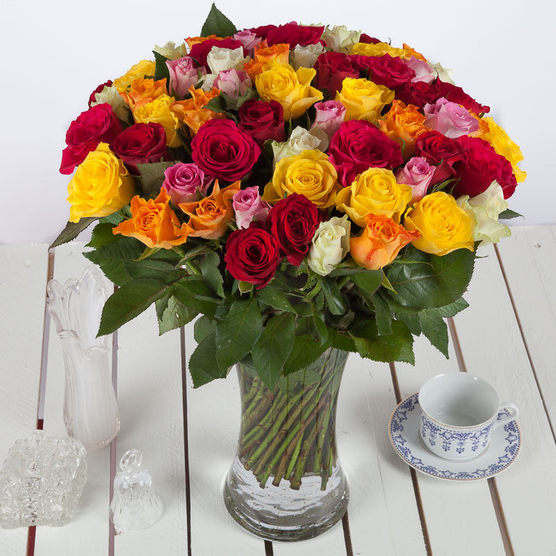 Cheap 50 Roses Flower Bouquet - UK Next Day Delivery – Valueflora
