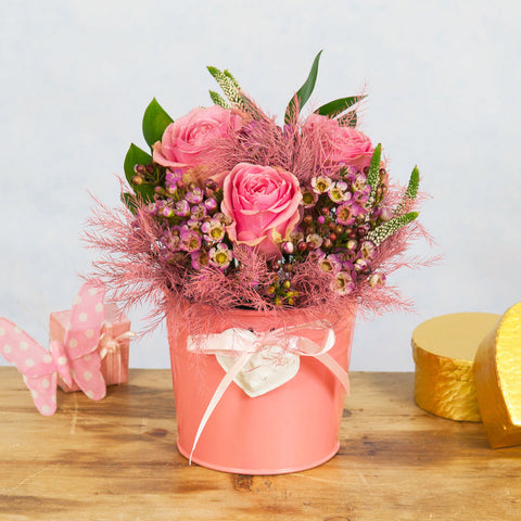 Perfectly Pink Flowerpot