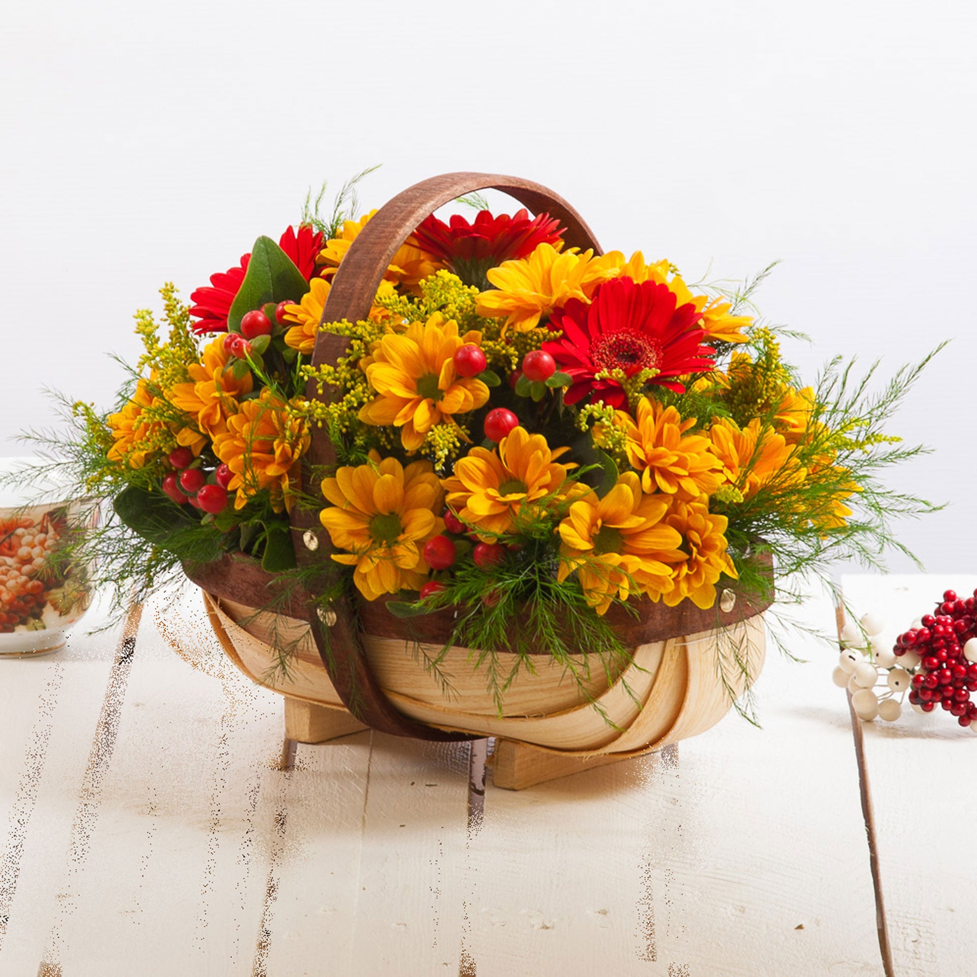 Cheap Rustic Trug Flower Bouquets Next Day Delivery Valueflora