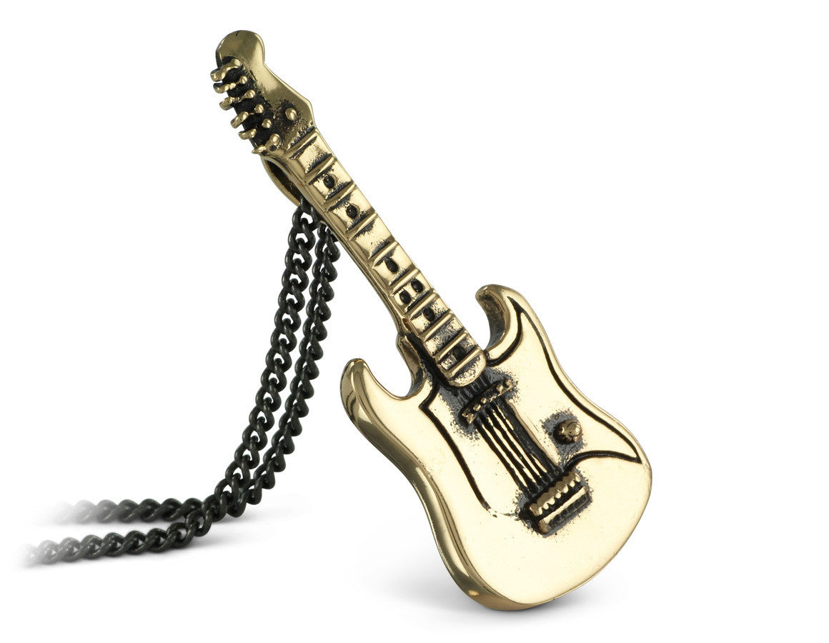 Guitar Necklace In Bronze By Lost Apostle