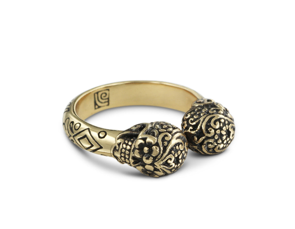 terrain gifts rings feverfew bracelets cast and ring at bronze in pin hand