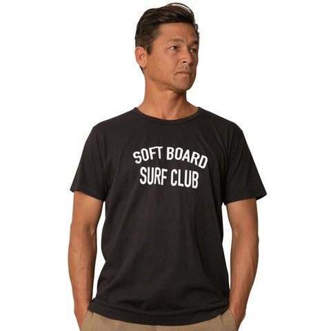 Catch Surf - Catch Surf - Softboard Surf Club S/S Tee ~ Black - Products - The Mysto Spot
